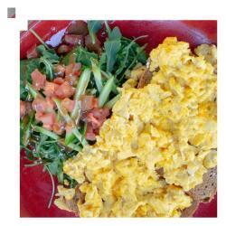 Salut Bar And Grill Scrambled Eggs Breakfast